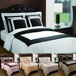 LUXURY Hotel 5 Piece Duvet Covers and Shams 100% Cotton Set