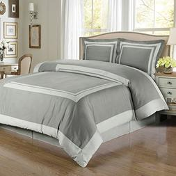Blancho Bedding Hotel Gray/Light-Gray Egyptian Cotton Duvet