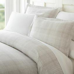 Hotel Quality 3 Piece Thatch Patterned Duvet Cover Set - 4 B