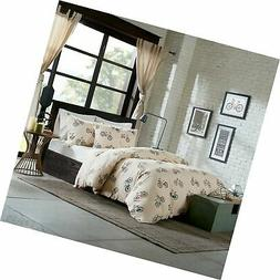 HipStyle HPS12-0011 Raleigh 4 Piece Duvet Cover Set Full/Que