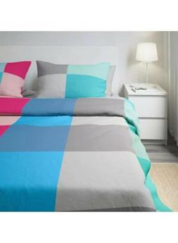IKEA Brunkrissla Queen Size Duvet Cover and two pillowcases