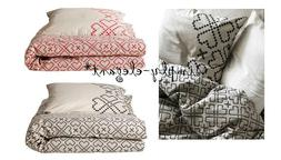 IKEA Duvet Cover with pillowcase Ryssby Beige Black Red Twin