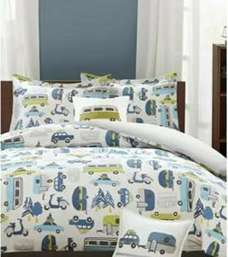 INK+IVY Kids Road Trip Reversible 4-Pc. Full/Queen Duvet Cov