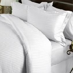 1000 Thread Count Egyptian Cotton  QUEEN Size, WHITE Stripe,