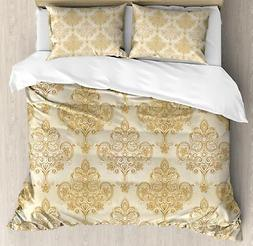 Ivory Duvet Cover Set Twin Queen King Sizes with Pillow Sham