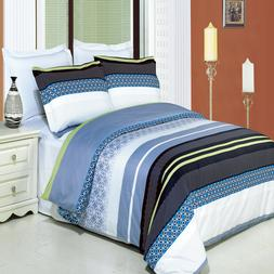 Jasmine 100% Cotton Duvet Cover King/ Cal-king 3-Piece Duvet