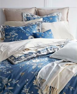 Ralph Lauren Josephina Full/Queen Duvet Cover Cream/Bali Blu