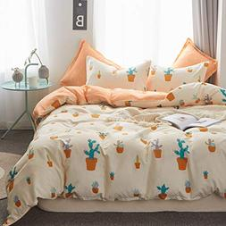 Uozzi Bedding Kids Cactus 3 Pieces Twin Duvet Cover Set Hypo