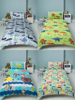KIDS COTTON BLEND DUVET COVER SET