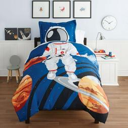 Kids Twin Duvet Cover & Sham Bedding Set Astronaut Design So