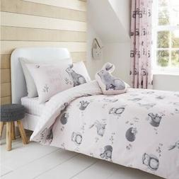 Catherine Lansfield Kids Woodland Friends Duvet Cover Set, C