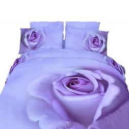 King Duvet Cover Set - 6 Piece Cotton, Romantic Floral Beddi