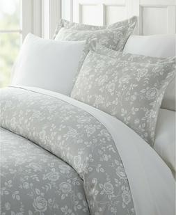 ienjoy Home KING Duvet Cover Set Lucid Dreams Patterned Grey