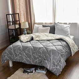 Bedsure King Printed Reversible Comforter Duvet Insert with