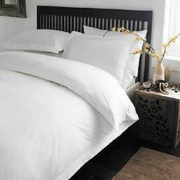 KING WHITE SOLID 3 PIECES DUVET COVER SET 1000 THREAD COUNT