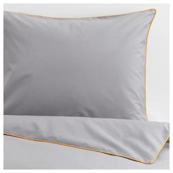 Ikea KUNGSBLOMMA Twin Duvet Cover w/Pillowcase Bed Set Gray/