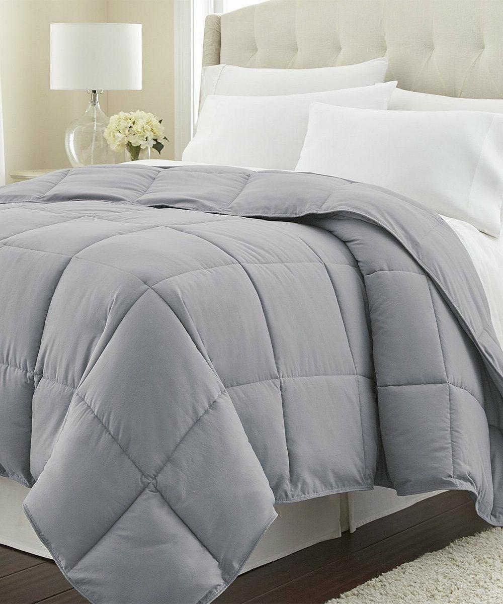 Goose Down Comforter King Set Hotel Collection Box Stitch Fu