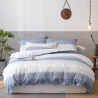Merryfeel 100% Cotton Yarn Dyed Duvet Cover Set - Full/Queen