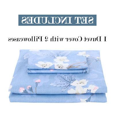 100% Duvet w Case Quilt Set 300TC