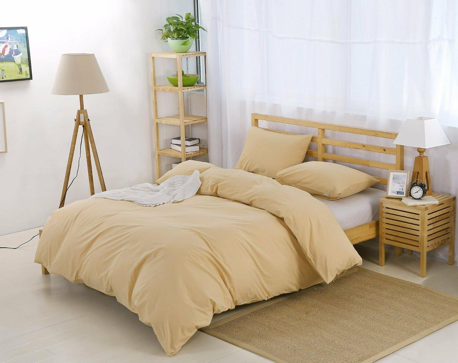 100 percent natural washed cotton duvet cover