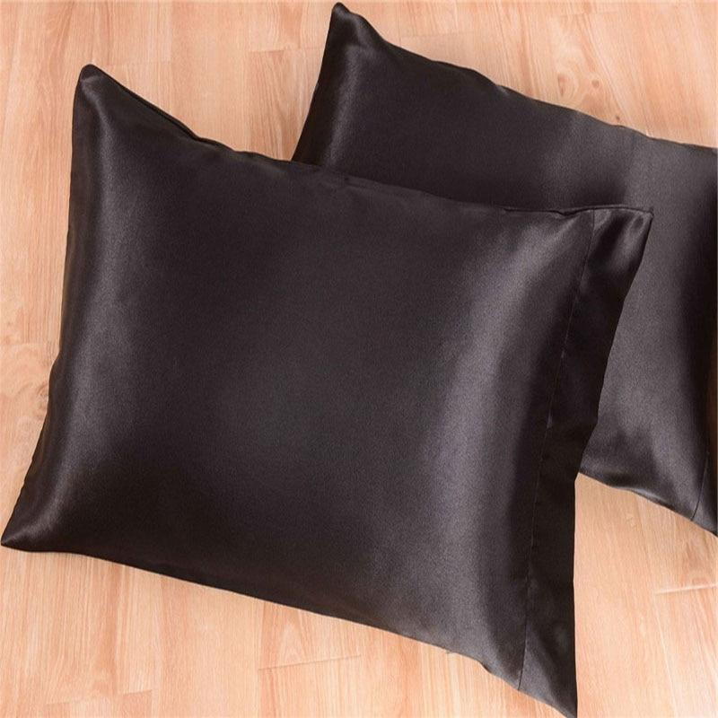 Juwenin Home silk Sheet Cases King <font><b>Bedding</b></font> Set Black15