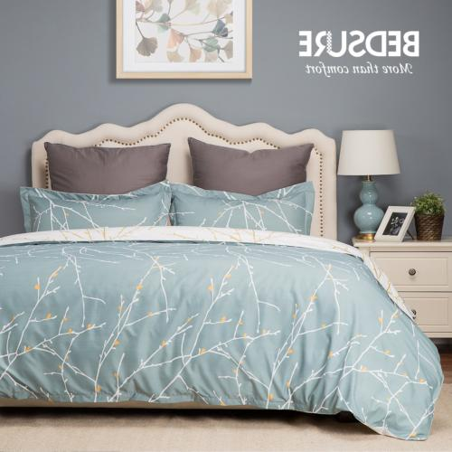 Bedsure 3 Piece Duvet Cover Set 1 Duvet Cover + 2 Pillow Sha