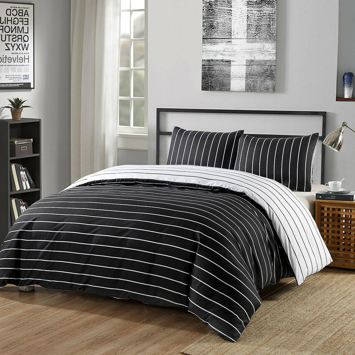 Striped Duvet Cover Sets Bedding For Boys Mens Kids Bed 7 co
