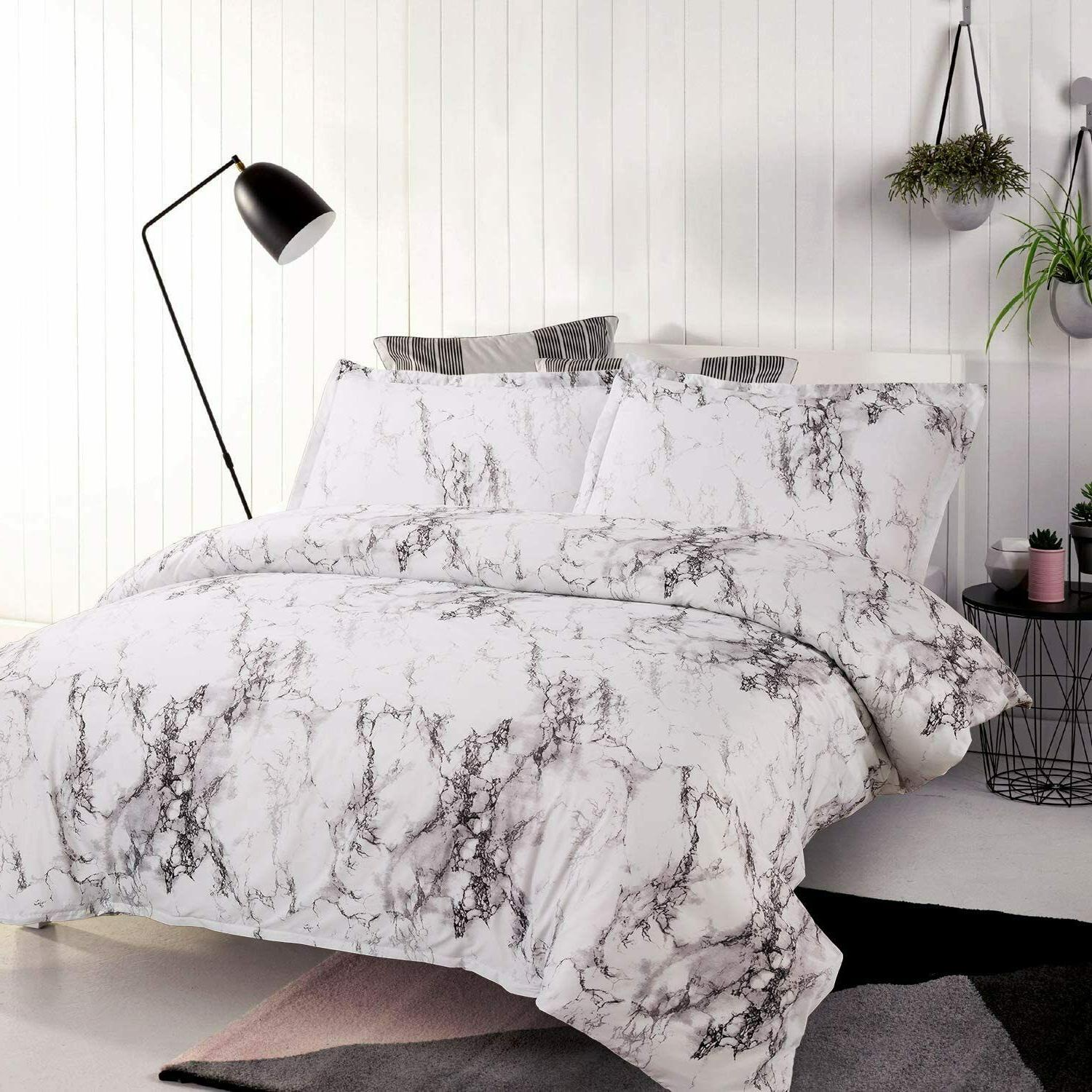 3pc White Duvet Cover Cover