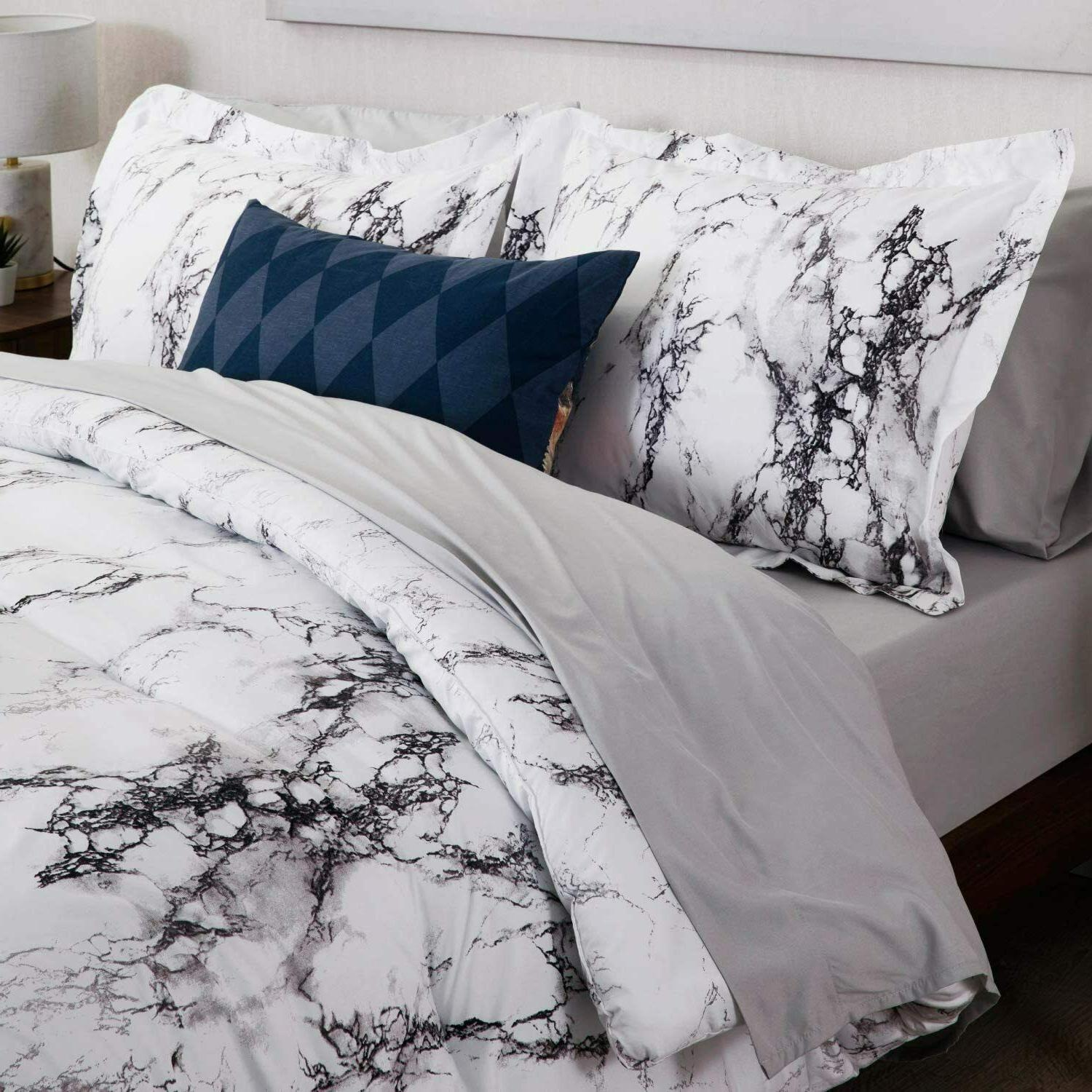 3pc White Duvet Cover Cover Bedding Queen/King