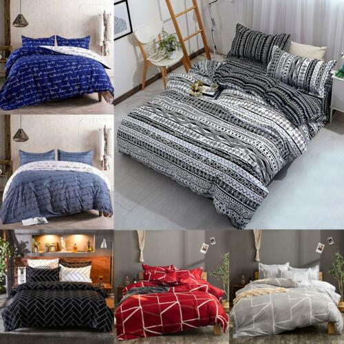 3pcs duvet cover set printed soft comforter