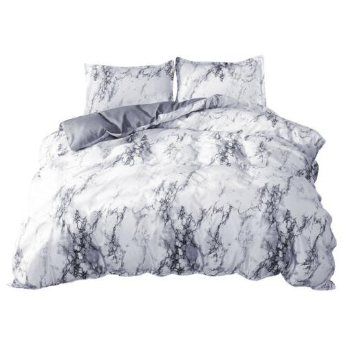 3 Printed Cover Queen Quilt Set