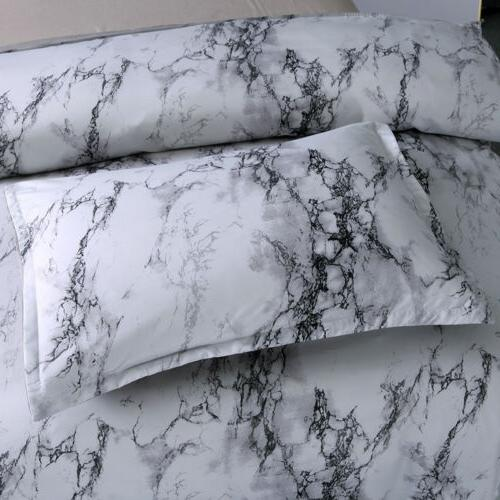 3Pcs Marble Printed Duvet Cover Comforter Bedding
