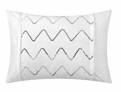 Chic Home 4 Piece Daya Pleated Duvet Cover White