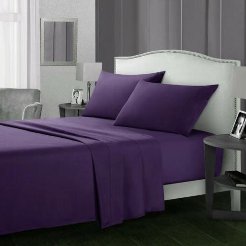 4 Piece Bed Set Count Egyptian Bed Deep Full