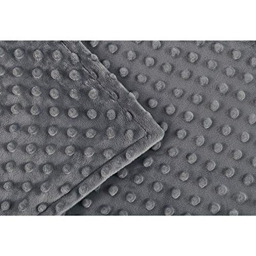 RelaxBlanket for Weighted Blanket Premium Soft Minky Dot Dark
