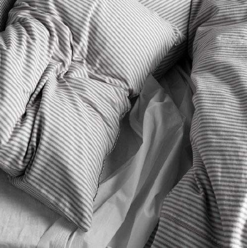 Beautiful White Striped Pattern Duvet Cover and Twin Ikea Nyponros