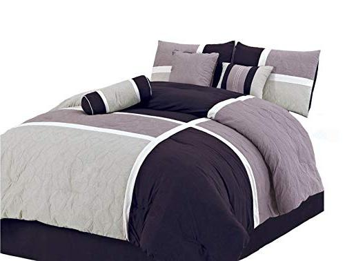 Chezmoi Collection 7-Piece Quilted Patchwork Duvet Cover Set