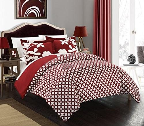 Chic 3 Piece Calla Reversible Scale Design with Red