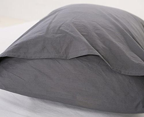Colourful Snail Washed Duvet Cover Set, Soft Easy Queen/Full, Dark