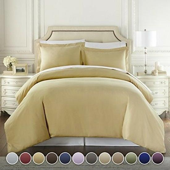 HC COLLECTION Hotel Luxury 3pc Duvet Cover Set-1500 Thread C