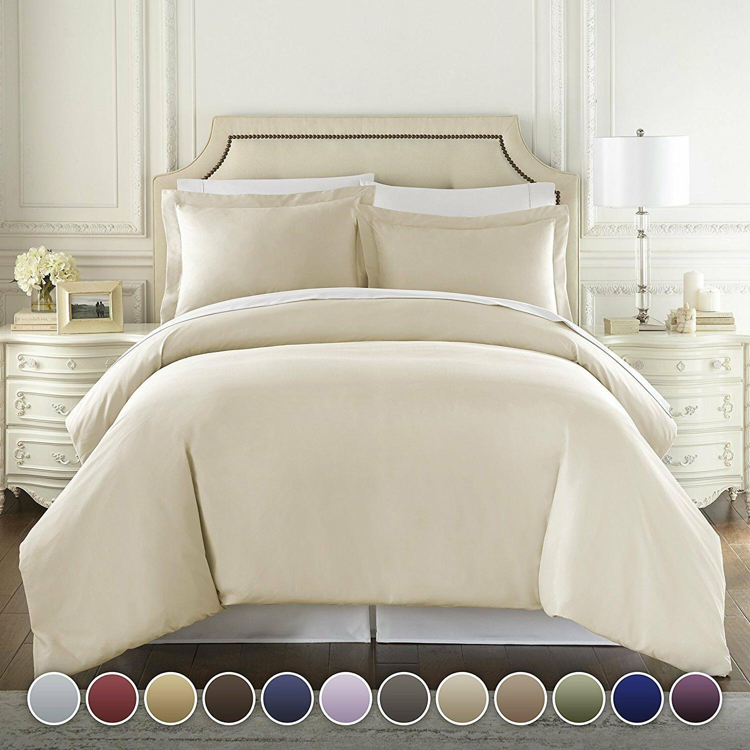 HC COLLECTION Hotel Luxury 3pc Duvet Cover Set-1500Thread Co