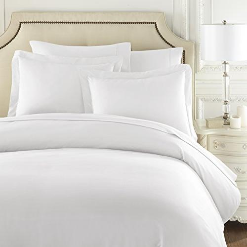Hotel Luxury Cover Set-1500 Thread Count Egyptian Silky Soft Top Premium Bedding -Queen Size White