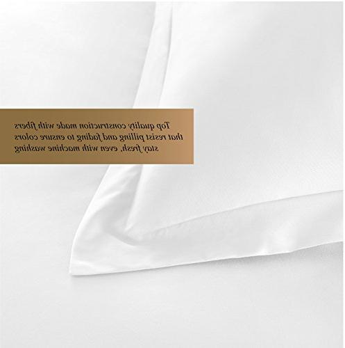 Hotel Luxury Cover Thread Count Egyptian Quality Ultra Soft Bedding Collection White