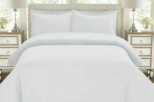 Hotel Luxury Cover Egyptian Quality Soft Bedding Collection White