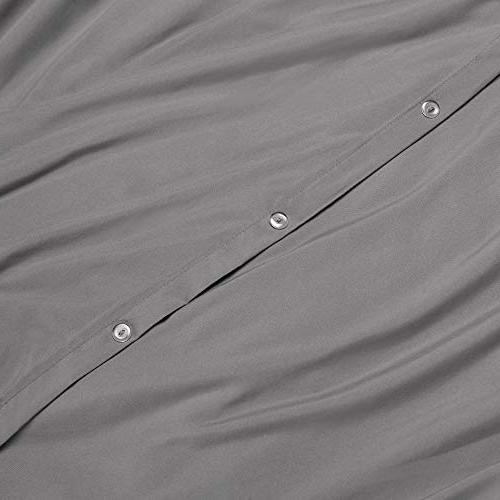 "Nestl Cover 3 Set – Ultra Comforter Cover with Button Closure and 2 Shams, Queen 90""x90"""
