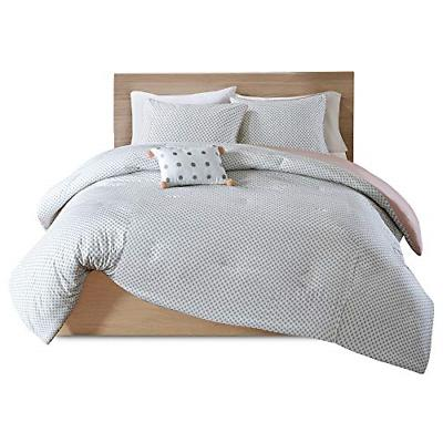 100% Solid Reversible 4 Duvet Set