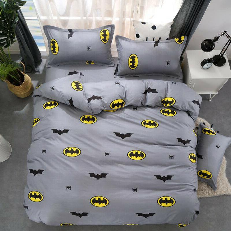 Batman 2/3pcs Duvet Cover Set Twin/Queen Size Bedding Set Pi
