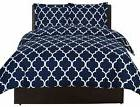 Utopia Bedding Navy Blue Queen Size Duvet Cover with 2 Pillo