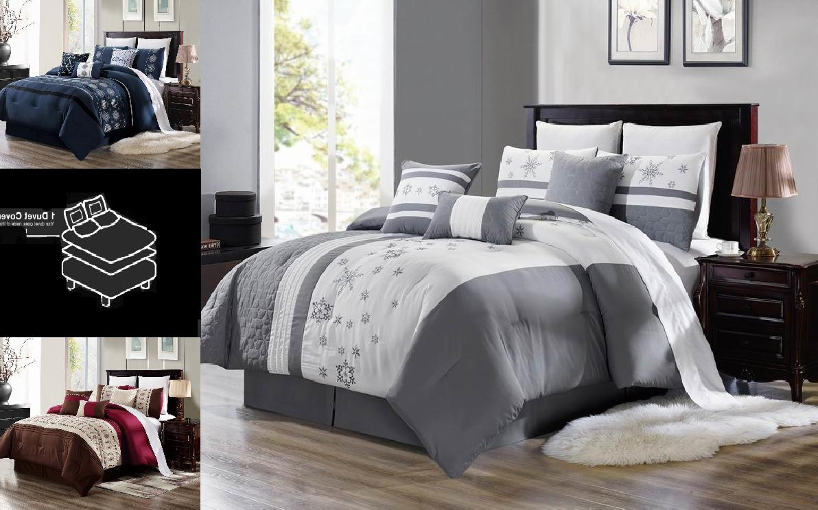bedroom collection floral embroidery duvet comforter top