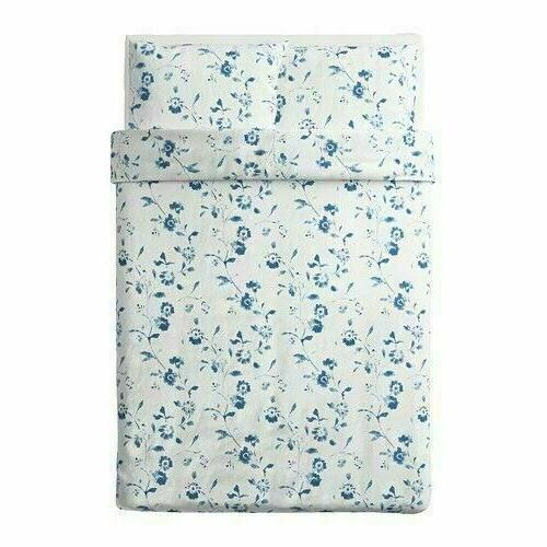 IKEA Blagran Full/Queen Duvet Cover and 2 White Floral